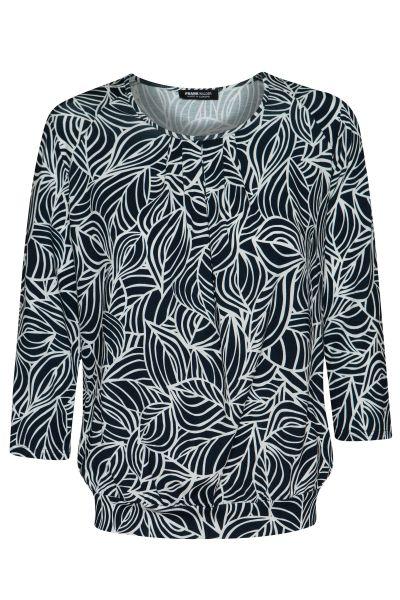 Shirt GRAPHIC ART mit unterlegtem Vorderteil