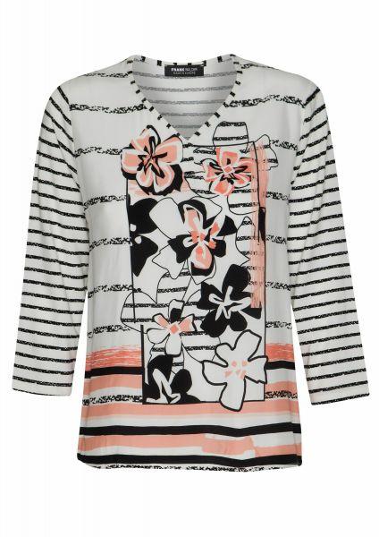 Shirt Pattern Mix mit peachfarbigen Akzenten