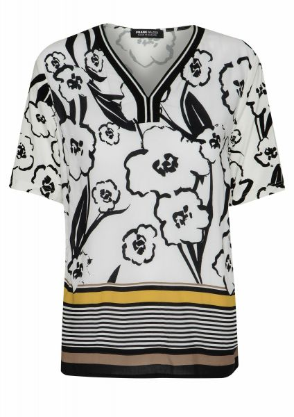 Shirt Go wild in abstrakter Blütenoptik