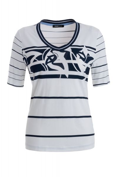 Blusenshirt Santorini mit modernen Strickbündchen