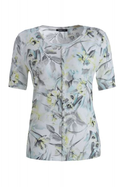 Shirt Capri mit minimalistischer Strass-Applikation