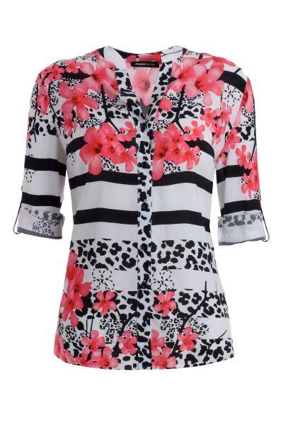 Shirtbluse Valencia im sommerlichen Blütenprint