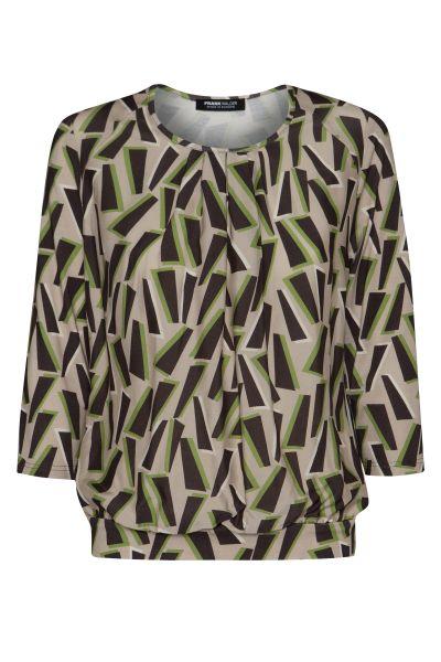 Shirt 3/4 Ärmel Nizza mit femininer Faltenpartie