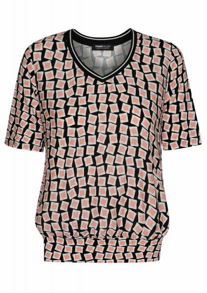 Shirt Pattern Mix mit eingearbeitetem Strickbündchen