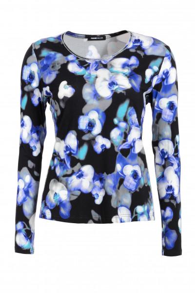 Bedrucktes Shirt mit femininem Blütenprint